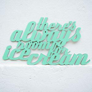 Ice Cream 3D geschnittene Buchstaben