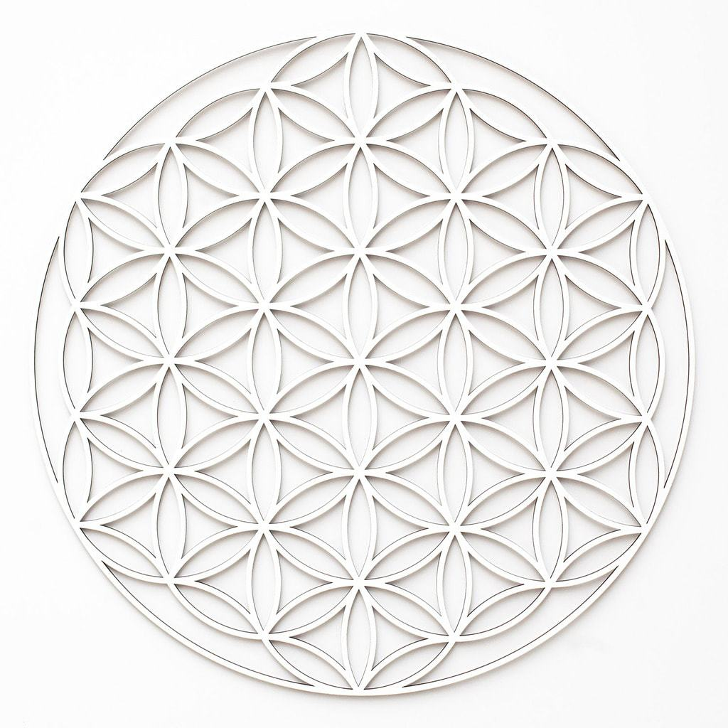 blume des lebens flower of life 3d deko. Black Bedroom Furniture Sets. Home Design Ideas