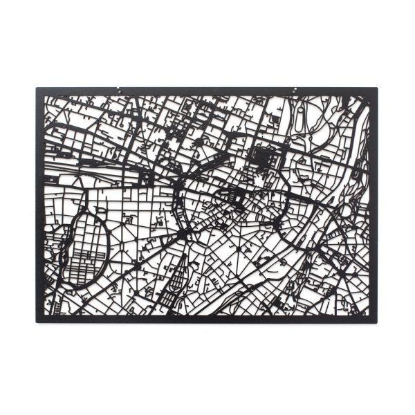 3D Stadtplan München schwarz