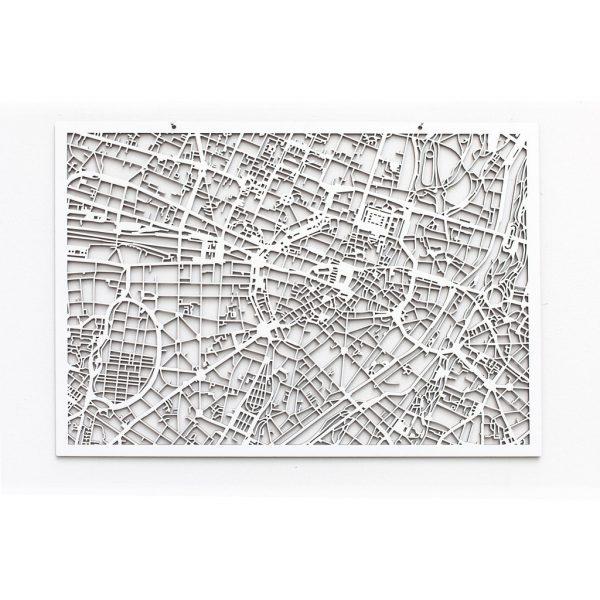 3D Stadtplan München weiß