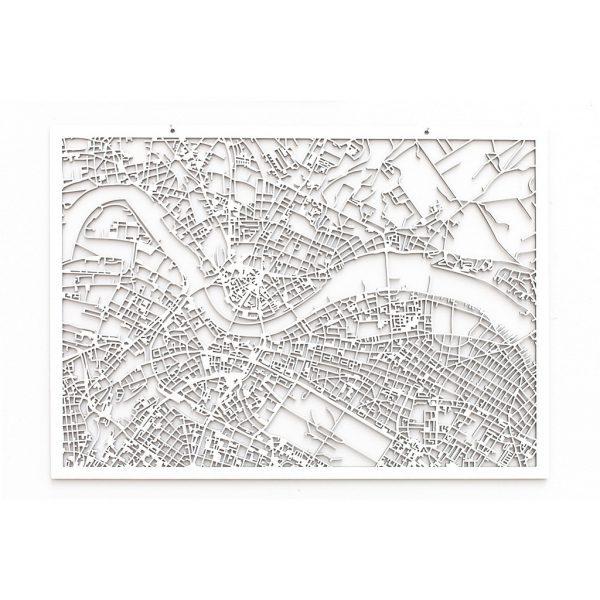 3D Stadtplan Dresden weiß