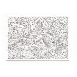 3D Stadtplan Berlin weiß