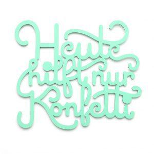 Konfetti 3D geschnittene Buchstaben mint
