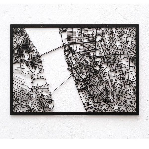 3d Stadtplan Liverpool, schwarz
