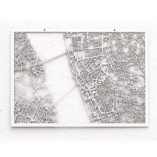 3d Stadtplan Liverpool, weiß