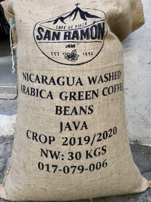 Rohkaffee Nicaragua San Ramon Kaffeesack
